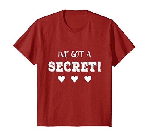 Kids I've Got a Secret I'm Going to be a Big Cousin Funny T shirt 4 Cranberry