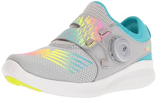New Balance Kids' FuelCore Reveal Running Shoe, Silver Mink/Rainbow, 2 M US Little Kid