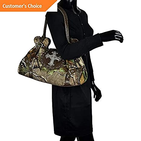 Amazon.com | Sandover Dasein Studded Realtree Camo Shoulder Bag 4 Colors | Model LGGG - 10548 | | Luggage