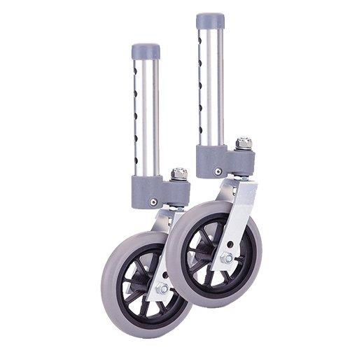"Nova 5"" Swivel Wheels for 1"" Folding Walker - 1 Pair"