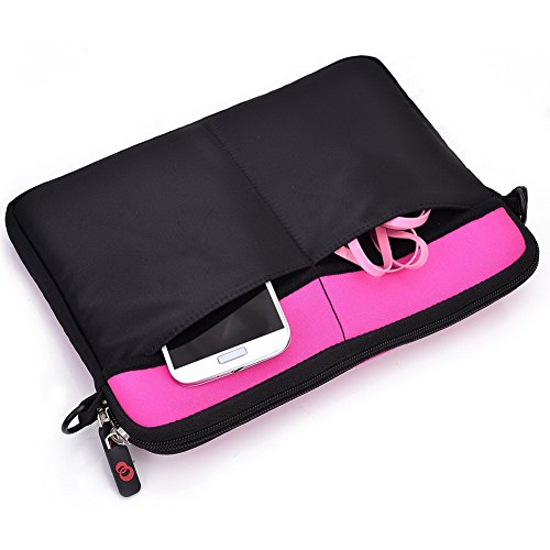 Kroo Tablet Sleeve mit abnehmbarem Tragegurt Neopren Schutzhülle für Allview AX3Party Tablet grau grau magenta 1AfarlOBO0