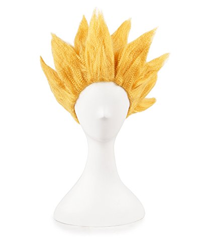 Dragon Ball Costume For Kids (Miccostumes Men's Dragon Ball Goku Cosplay Wig (Gold))