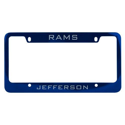 CollegeFanGear Philadelphia Metal Blue License Plate Frame 'Rams' by CollegeFanGear