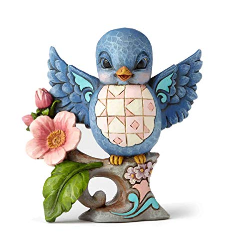 Jim Shore Heartwood Creek Sing A Happy Tune Pint Sized Bluebird Figurine 4057699