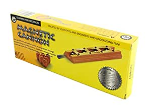 Abong Magnetic Wooden Cannon - Four-Stage Chain Reaction Magnetic Accelerator - Includes Rare-Earth Magnets and Ball Bearings