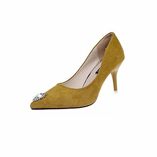 de de Zapatos Tacón Negro Zapatos Zapatos Americano Europeo Tacón Amarillo Zapatos Otoño Trabajo de de de con Puntiagudo la Y Delgado Boda Rojo 4qHdg