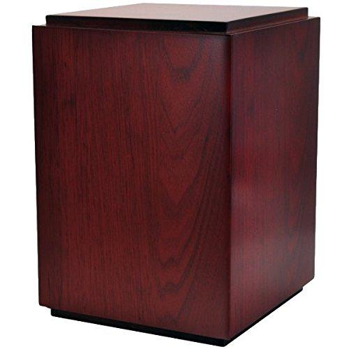 Cherry Finish Photo Wood Cremation Urn (Without Photo Window, Photo + Text Engraved)