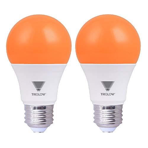 TriGlow Orange LED A19 Light Bulb, 9W (60W Equivalent) Orange Light Bulb, -