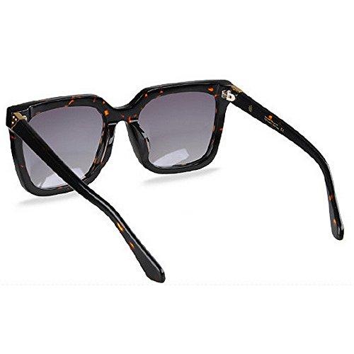 Protección libre tamaño de Playa sol Conducción Gafas UV Vacaciones Lente polarizadas Gafas esquí acetato Retro al gran de Hombres gafas de sol de de de aire TAC Fibra Negro Marco camuflaje de Personalidad gHqIwpSWT