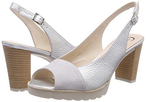 Gadea Zapatos Humo Punta tacón para con Plata Abierta Humo de Multicolor Ante Orion Mujer 40930 r5XqwxPr