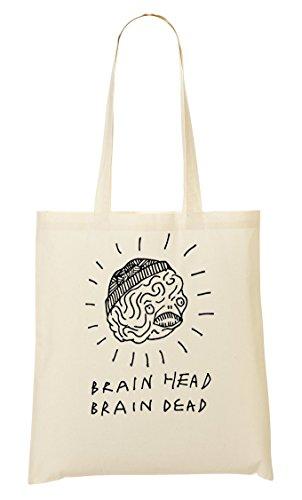 Tote Brain Artwork Sacchetto Head Di Bw rpxrqX