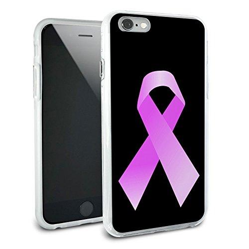 Breast Cancer Survivor Band am schwarz Hybrid Rubber Schutz Hülle Slim Case Cover Etui Schutzhülle FÜR Apple iPhone 6