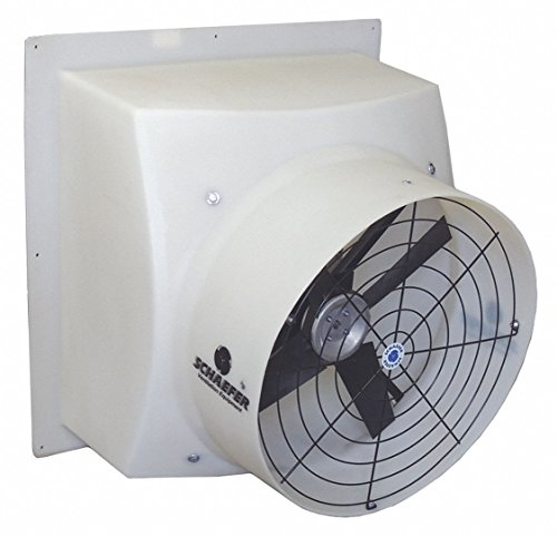 Agricultural Exhaust Fan - Schaefer 115/230V Direct Drive, Preassembled, Single Speed Agricultural Exhaust Fan, 1/6HP