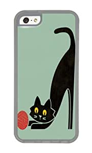Apple Iphone 5C Case,WENJORS Personalized Fitz the curious cat Soft Case Protective Shell Cell Phone Cover For Apple Iphone 5C - TPU Transparent