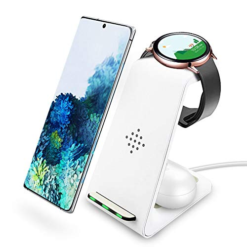 Intoval Wireless Charger, Wireless Charging Station for Samsung Galaxy Phone/Watch/Buds, Fit for S20/S10/S9/S8/Note 20/Note 10/Note 9, Watch 3/Active 2,1/Gear S3/Sport/Fit, Galaxy Buds(+,Live)