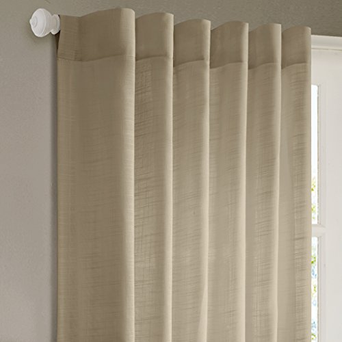 - Khaki Curtains for Living Room, Modern Contemporary Fabric Floral Curtains for Bedroom, Tunisia Print Rod Pocket Window Curtains, 50X84, 1-Panel Pack