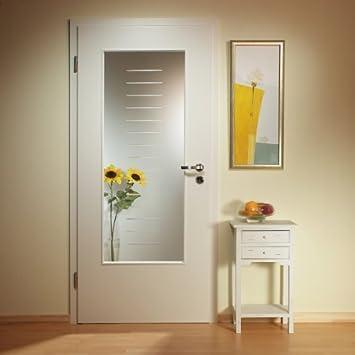 Puerta de cristal interior, puerta interior acristalamiento, LAR931-F, cristal transparente con cristal esmerilado, 535 x 1420 mm, cristal Ornament 4 mm: Amazon.es: Bricolaje y herramientas