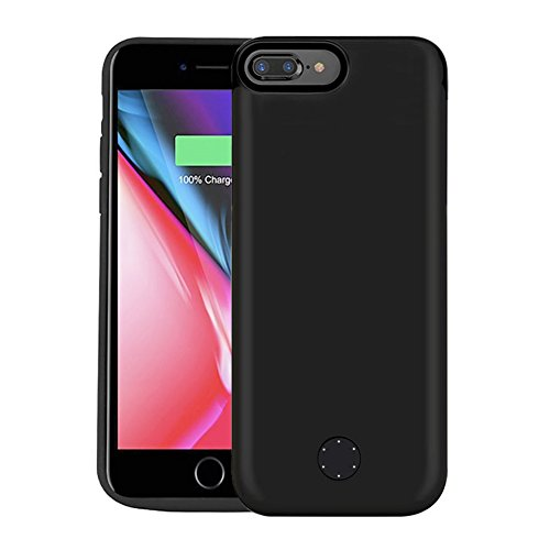 iPhone 8 Plus / 7 Plus Battery Case, ZTESY 7200mAh Extended Battery Portable Charger For iPhone 6S Plus / iphone 6 plus Power Juice Charging Case Pack 5.5 ( Black )