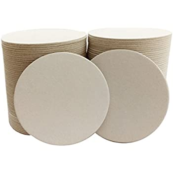 "100 4"" Round Heavyweight Blank Plain Off-White Paper Coasters for table, DIY Crafts, Zen Tiles Designs"