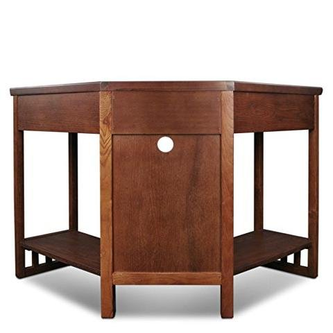 Ioneyes Writing Desk Oak Corner Finish Mission And - Lid Writing Drop Desk