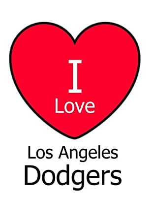 I Love Los Angeles Dodgers: White Notebook/Journal for Writing 100 Pages, Los Angeles Dodgers Baseball Gift for Men, Women, Boys & Girls