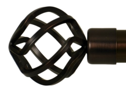 Home Decor Int'l HDI Bird Cage Finials, Oil Rubbed Bronze, Set of 2