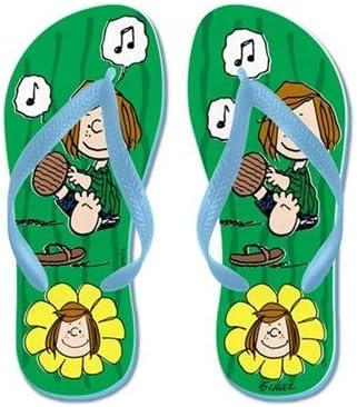 Lplpol Peppermint Patty Flip Flops for Kids Adult Beach Sandals Pool Shoes Party Slippers Black Pink Blue Belt for Chosen