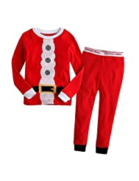 MITIAO Little Boys Santa Claus Styles Long Sleeve Pajama Set