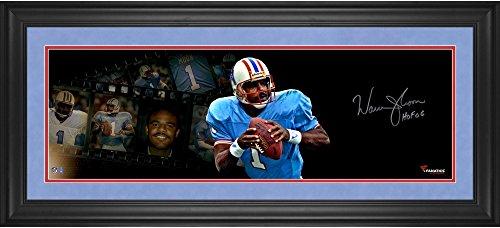 Warren Moon Framed Photo - Warren Moon Houston Oilers Framed Autographed 10'' x 30'' Filmstrip Photograph with