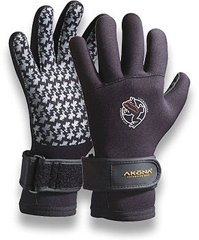 3.5mm Akona Scuba Diving Gloves with Wrist Gusset and Textured Palms Dive Divers Snorkel Snorkeling Swim Swimming Authorized Dealer Full Warranty, 2X-Large