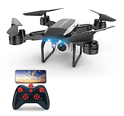 Cinhent Foldable WiFi FPV RC Quadcopter Drone, KY606DW GPS Drone, FPV RC Drone with Camera 1080P HD WiFi Live Video, Auto Return Home, Altitude Hold, Follow Me, Selfie Drone
