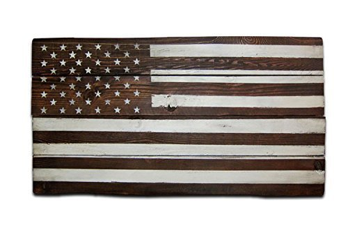 Rustic U.S. Flag Wood Wall Art, Monochrome Patriotic US American Flag Wall  Decor