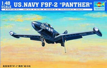 Trumpeter 1/48 F9F2 Panther US Navy Fighter Model Kit for sale  Delivered anywhere in USA