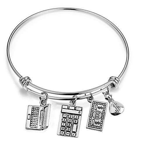 Price comparison product image AKTAP Accountant Bracelet Accountant Gift CPA Graduation Jewelry with Calculator Charm (Calculator Charm Bracelet)