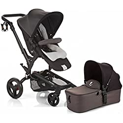 Jane Rider Stroller with Bassinet - Shadow