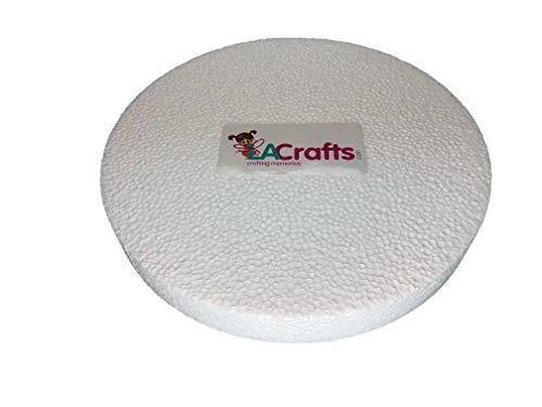 LA Crafts Brand 8x1 Inch Smooth Foam Craft Disc - 12 Pack]()