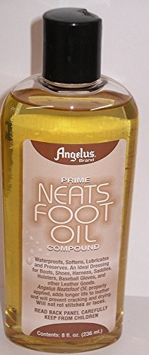 (Angelus Brand Prime Neatsfoot Oil Compound Shoes Boots Leather Waterproof Softener Protector Conditioner 8 oz)