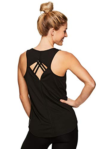 RBX Active Women's Open Keyhole Running Workout Yoga Tank Top S-19 Black S (Importance Of A Cool Down In Sport)