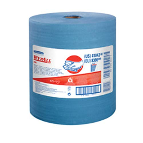 Kimberly-Clark Professional WYPALL X80 12.5'' X 13.4'' Heavy Duty Blue Jumbo Roll Wiper (475 Sheets Per Roll) by KimberlyClark Apparel (Image #1)