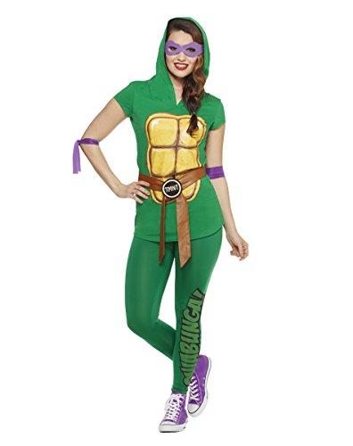 [Spirit Halloween Adult TMNT Tunic & Leggings Costume - Teenage Mutant Ninja Turtles,Green,S] (Adult Ninja Turtle Halloween Costumes)