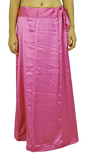 ibaexports Satin Silk Saree Petticoat Underskirt Bollywood Indian Lining For ()