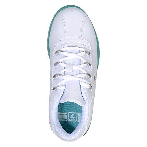 Lugz Kvinners Zrocs Is Low Cut Sneaker Hvit / Blågrønn Is Perma Skjul