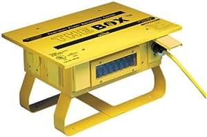 Leviton PB103 50 Amp, 125/250 Volt, Portable Power Distribution Center, Yellow