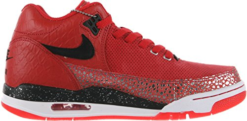 Nike Flight Squad Quickstrike Chaussures De Basket Pour Homme Rouge / Argent / Noir