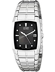 Citizen Mens Eco-Drive Stainless Steel Watch with Date, BM6550-58E