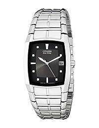 Citizen Men's BM6550-58E Eco-Drive Stainless Steel Black Dial Watch
