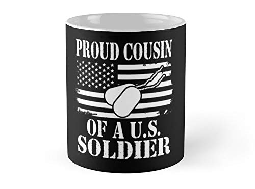(CASURI Mugs Proud Cousin Of A U.s. Soldier Soldier Aunt Gift T-shirt Day 4th Of July Independence American Flag Gift For Dad, Uncle, Mom, Friend, Father, GrandPa, Grandfather, Father's Day, Christmas)