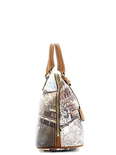 Y NOT? donna borsa a mano E-325 ROMA Stampa