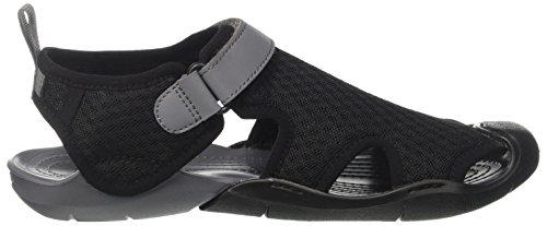 Bout Fermé Crocs Mesh Women Swiftwater black Noir Femme Sandals AqRxIg