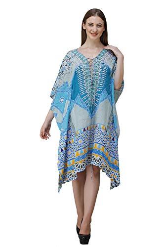 Rajoria Instyle Women's Multicolor Digital Print Beach Wear Kaftan – and Cover-up